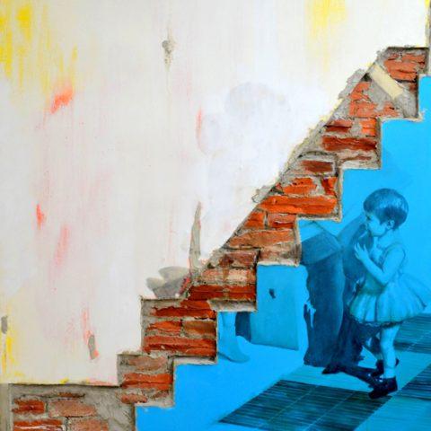 """""""Del recuerdo"""" 150 x 180 cm - Materiales de construcción sobre madera."""