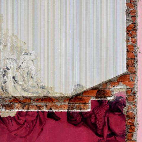 """""""Domingo"""" 150x125cm - Materiales de construcción sobre madera."""