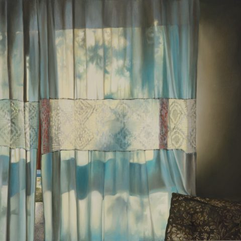 """Cromatismo Crochet"" Óleo sobre lienzo.90 x 110cm"