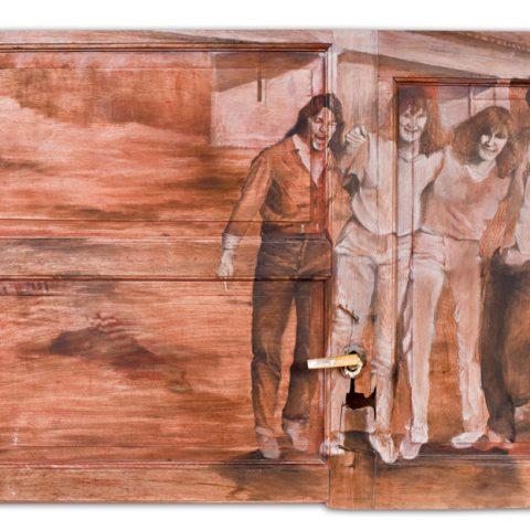 """Día de campo"" Óleo sobre puerta/ventana de madera. 110 x 80cm."