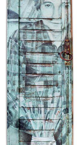Óleo sobre postigo de madera. 35 x 70cm