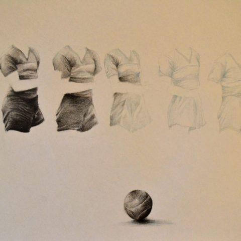 """S/t"" Grafito sobre papel. 15 x 25cm"